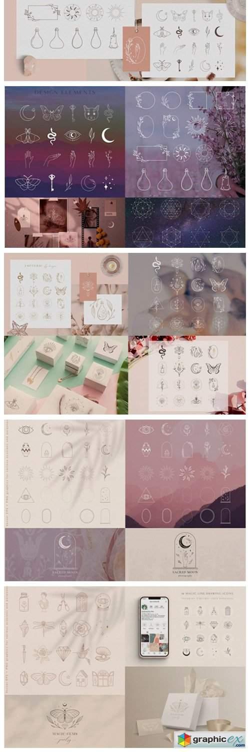 Logo Bundle ~ Mystic Designs. Branding.