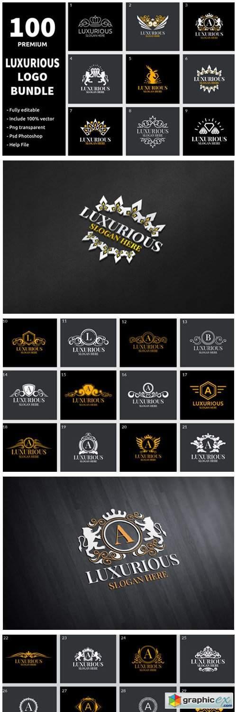 100 Luxurious Logo Bundle