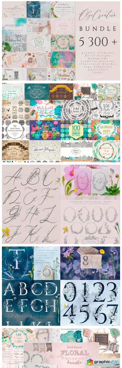 5300+ Graphic Bundle. Design Elements.