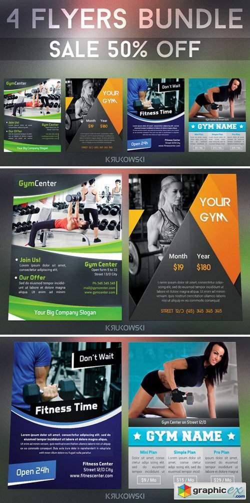 Gym Fitness Flyers Bundle 319516