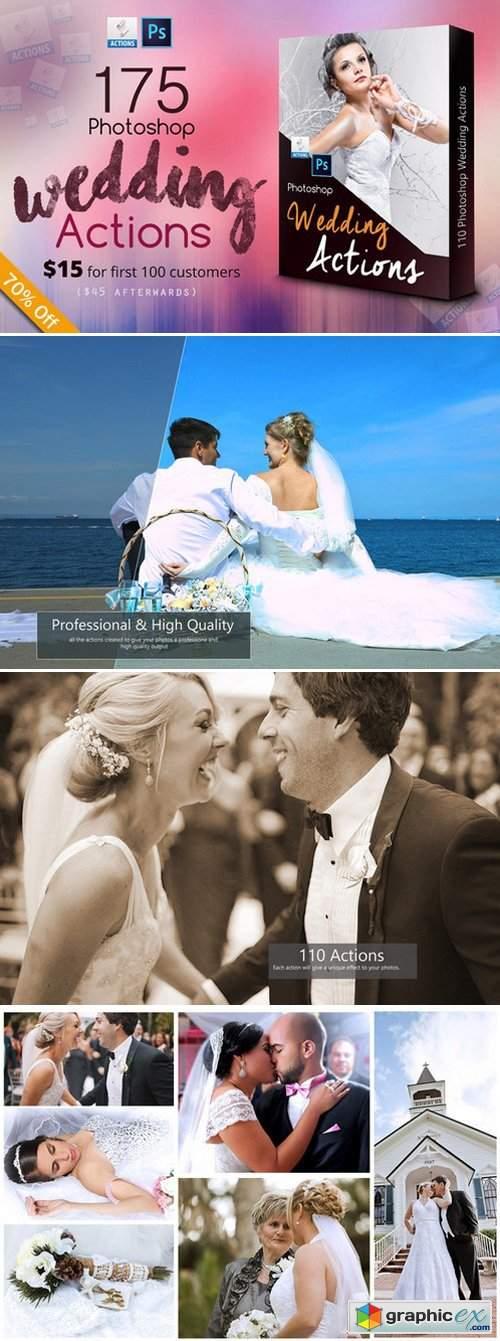 175 Photoshop Wedding Actions 400466