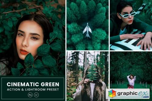 Cinematic Green Action & Lightrom Presets