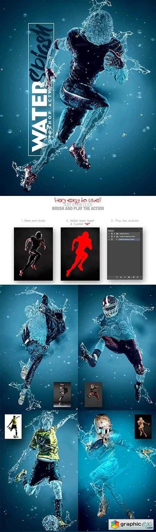 Water Splash Photoshop Action 31781792