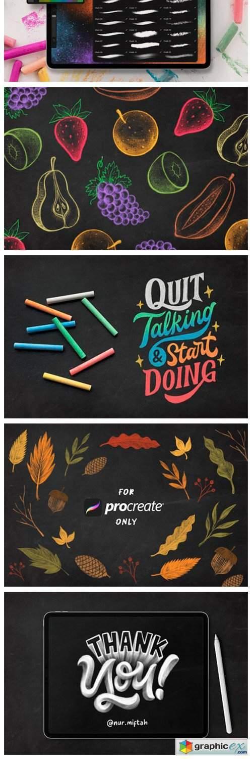 Procreate Chalk Sketch Brushes