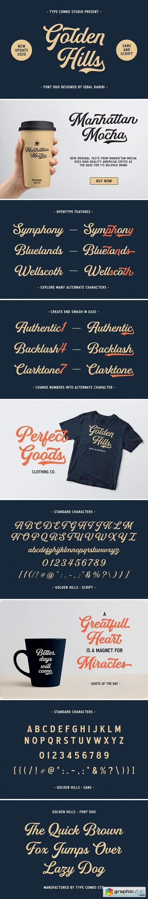 Golden Hills - Font Duo