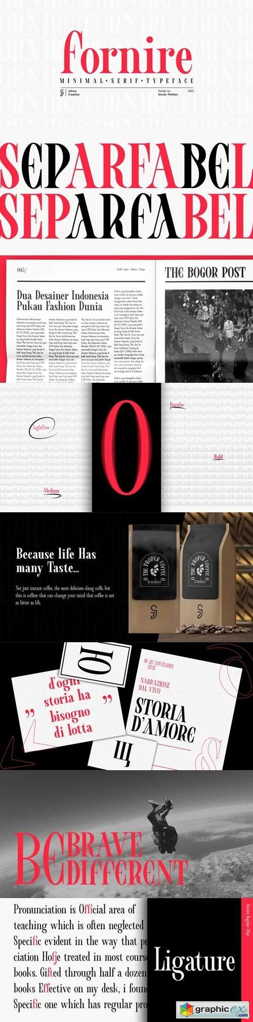 Fornire Font Family