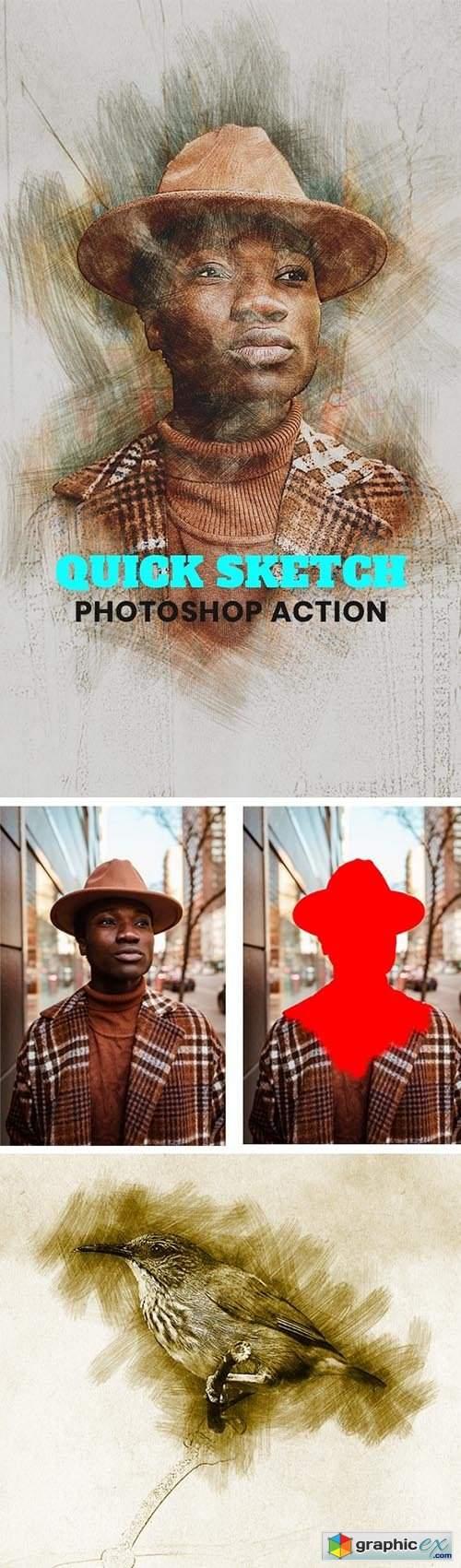 Quick Sketch Photoshop Action 31762904