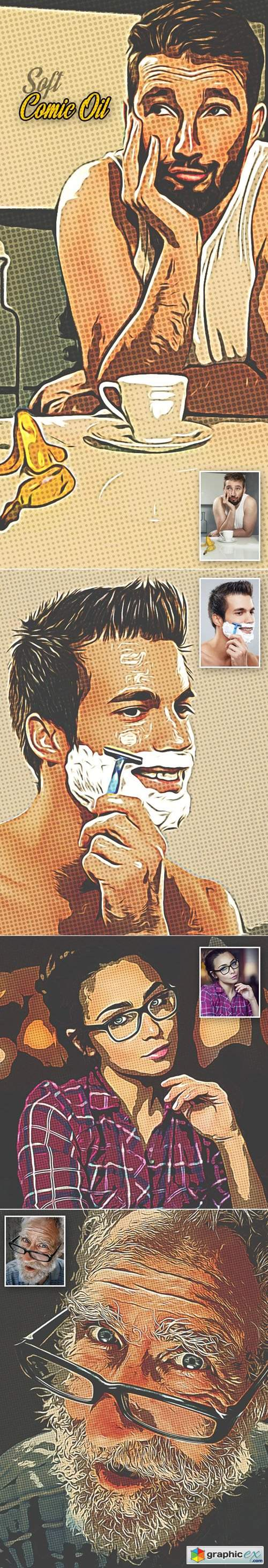 Soft Comic Oil Paint Photoshop Action