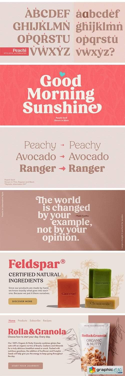 Peachi Font Family