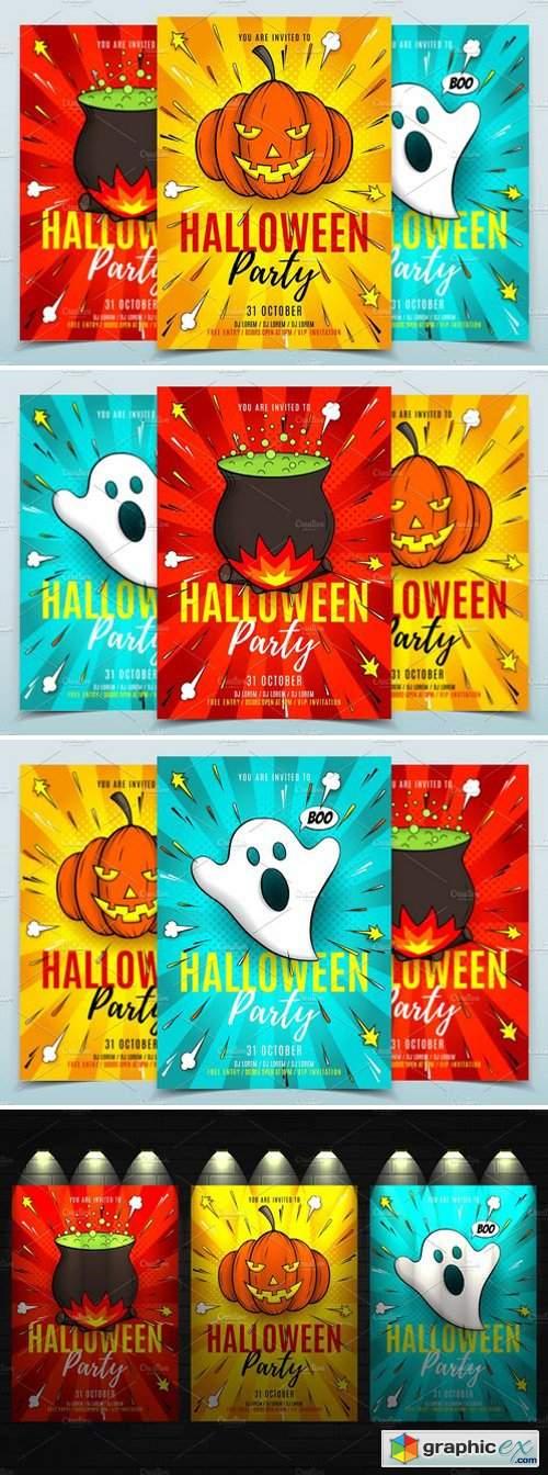 Halloween Party Flyers Templates 1885265