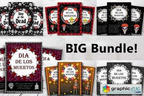 Day of the dead templates BUNDLE!!! 1819325