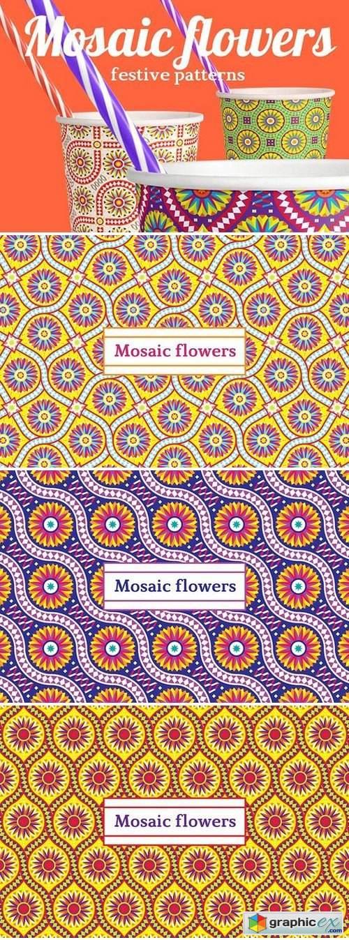 Mosaic flowers—Festive patterns 1907597