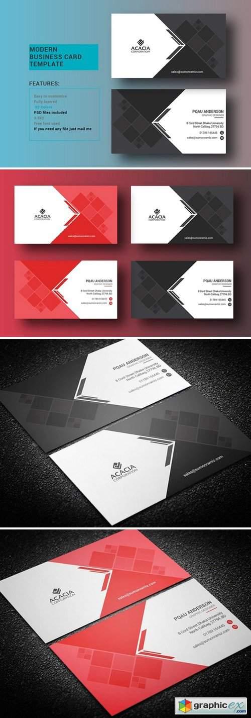 Modern Business Card 1408618