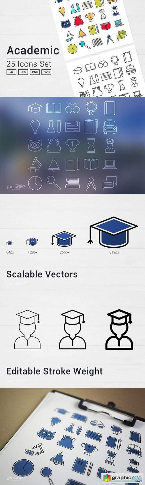 Academic School Icons Set 1241982