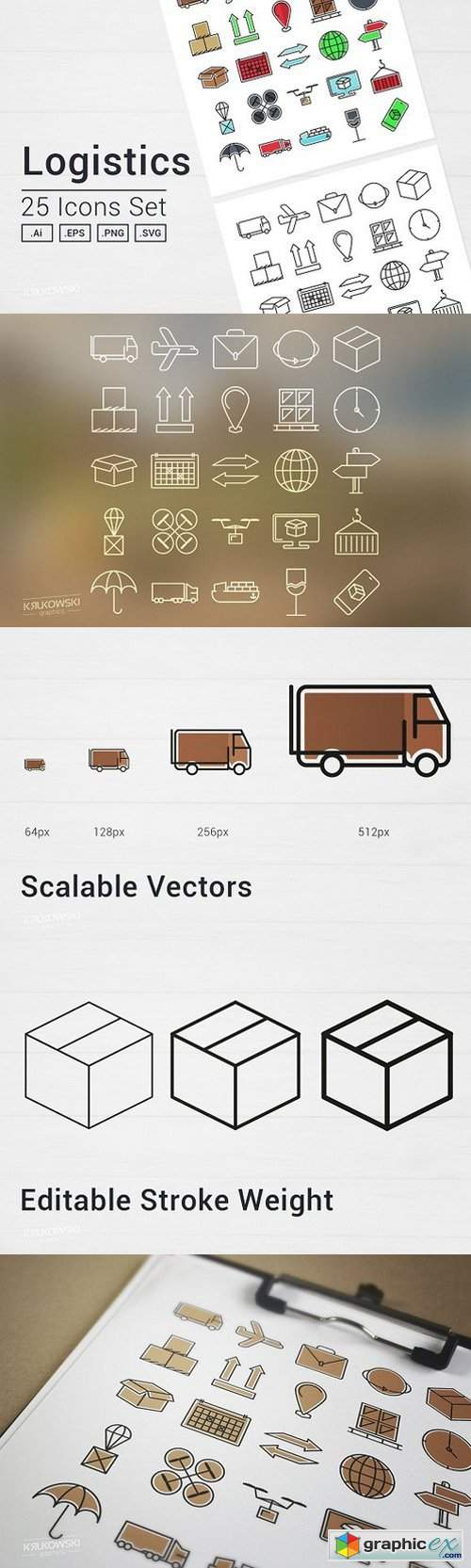 Logistics Icons Set 1367876