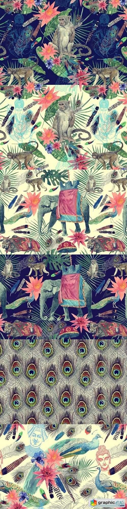 Vintage India 10 patterns (set 3)