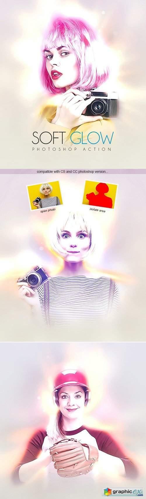 Soft Glow - Photoshop Action 31672932