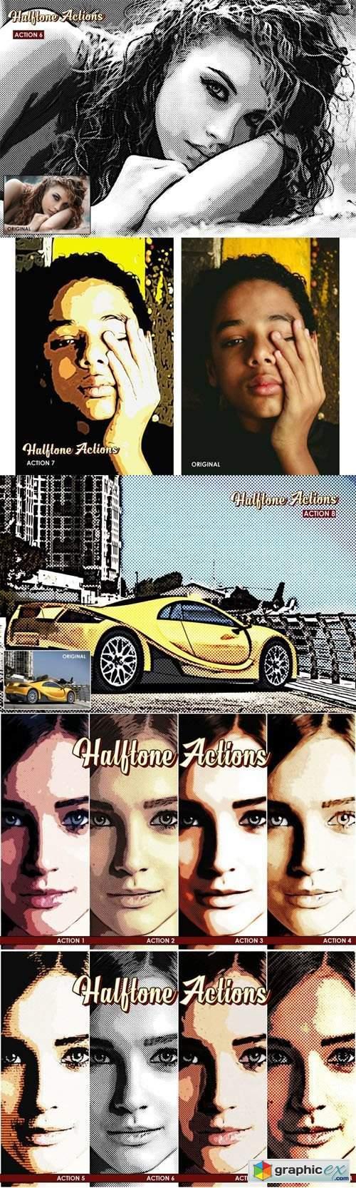 Halftone Photoshop Actions - Cartoonize Retro Style