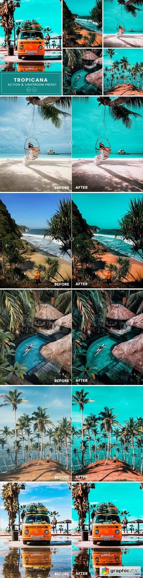 Tropicana Photoshop Action & Lightrom Presets