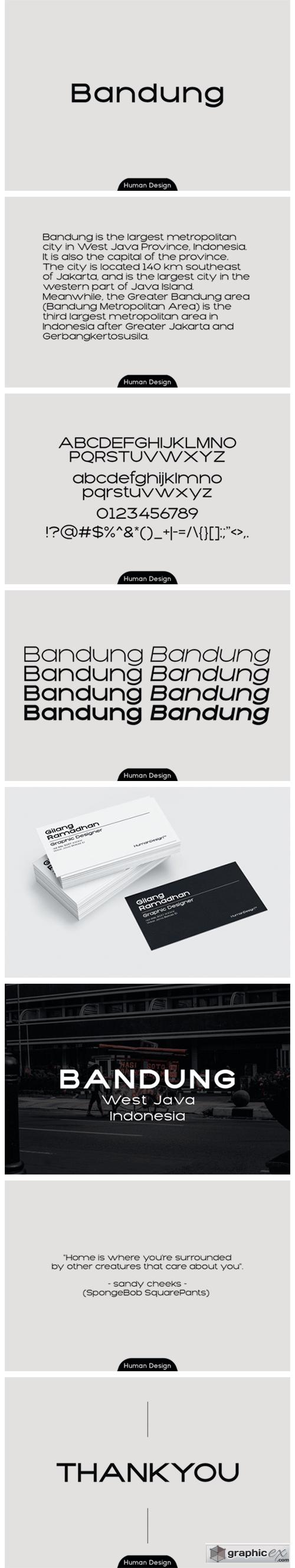 Bandung Font