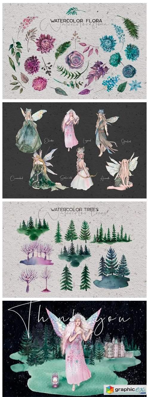 Forest Soul - Mystical Watercolor Set