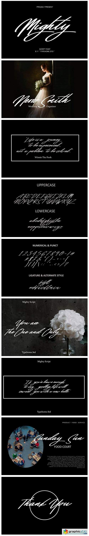 Mighty Script Font