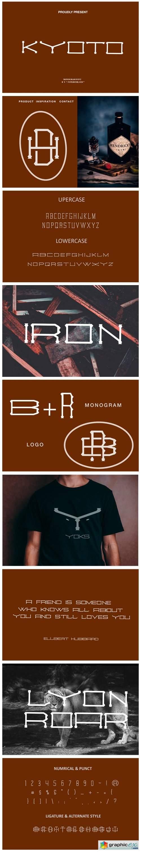 Kyoto Monogram Font