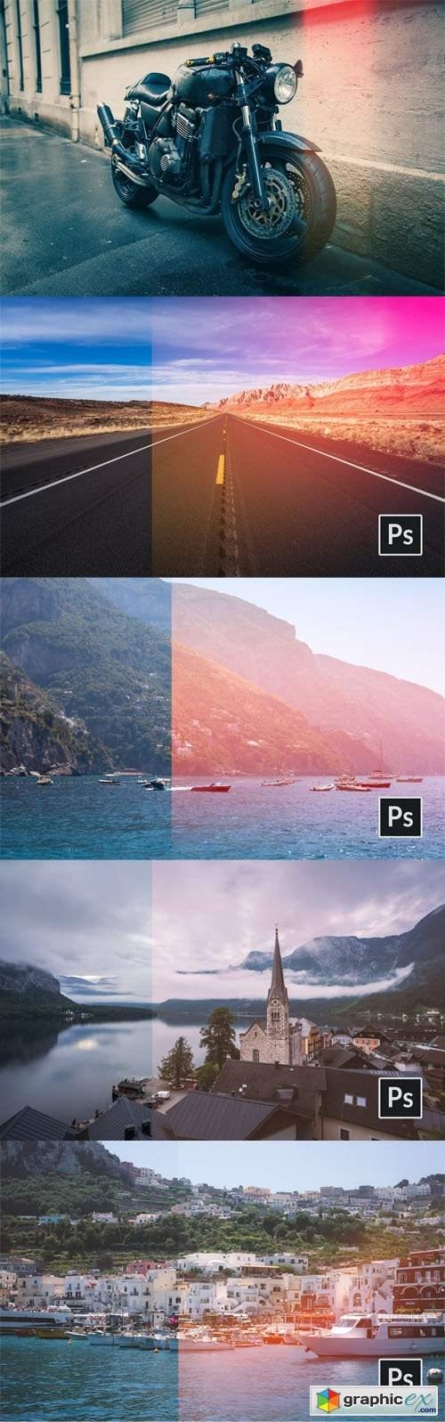 5 Light Leak Actions for Photoshop
