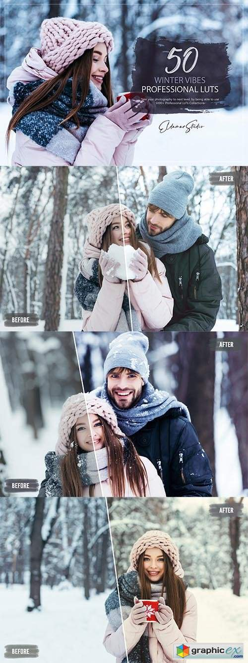 50 Winter Vibes LUTs and Presets Pack