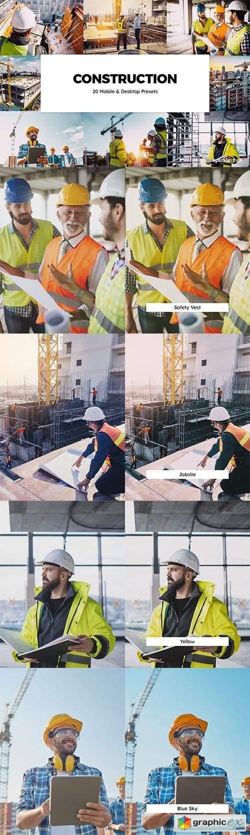 20 Construction Lightroom Presets & LUTs