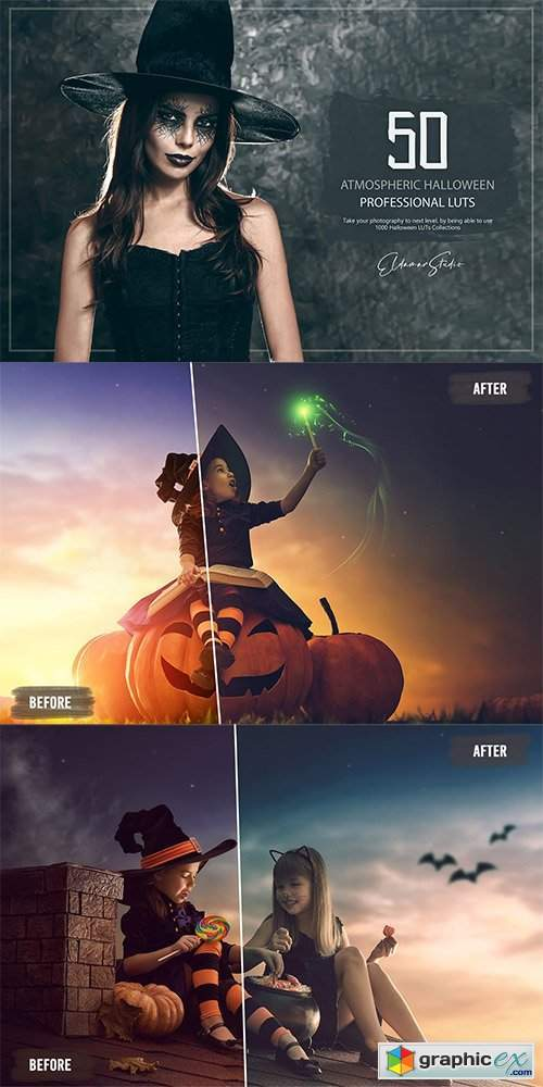 50 Atmospheric Halloween LUTs and Presets Pack