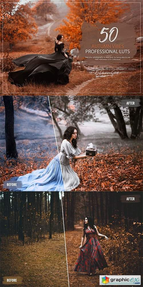 50 Autumn Vibes LUTs and Presets Pack