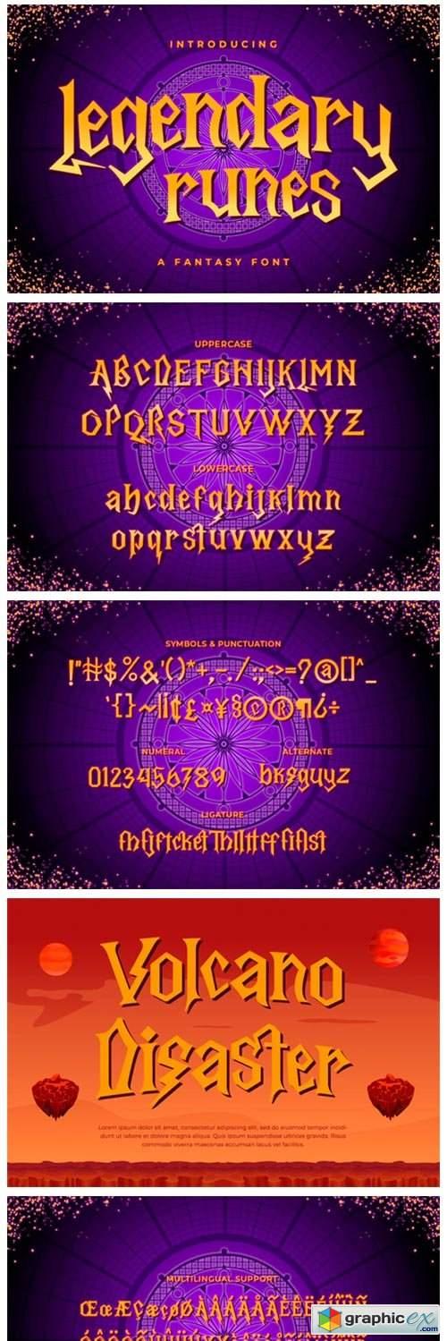 Legendary Runes Font