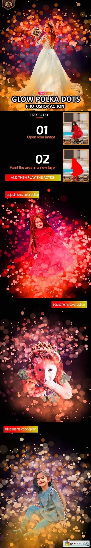 Glow Polka dots Photoshop Action