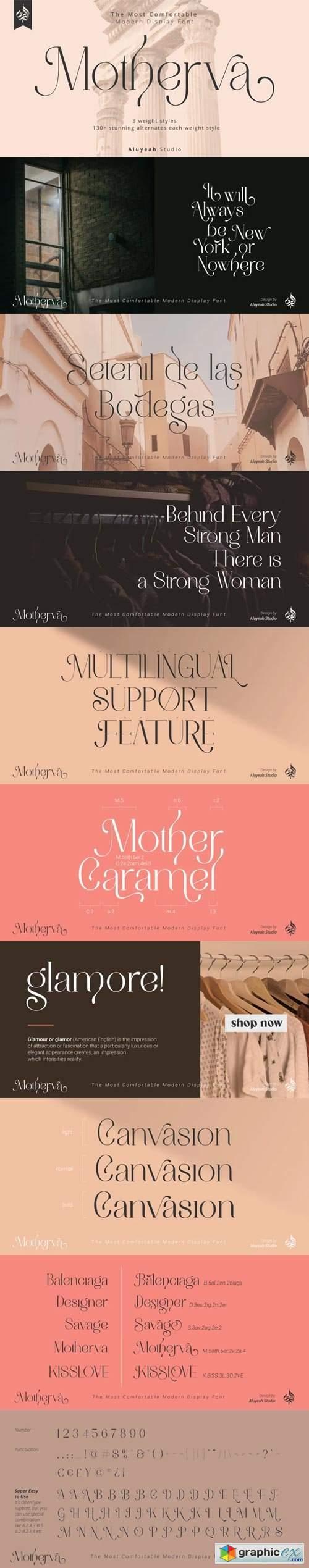 Al Motherva Font Family