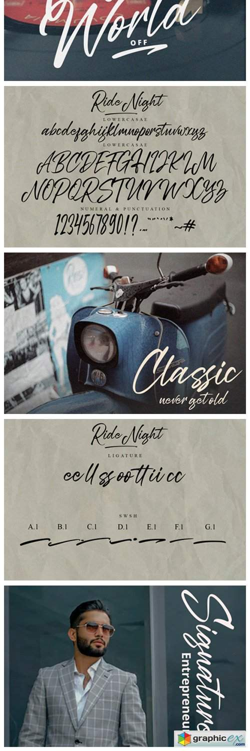 Ride Night Font