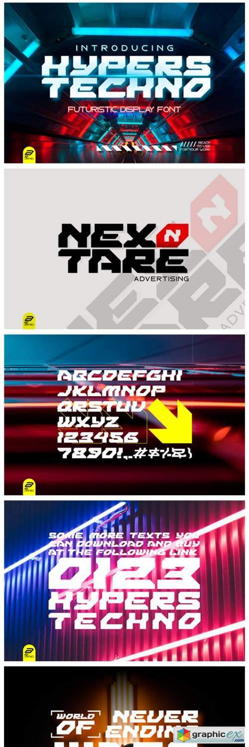 Hypers Techno Font