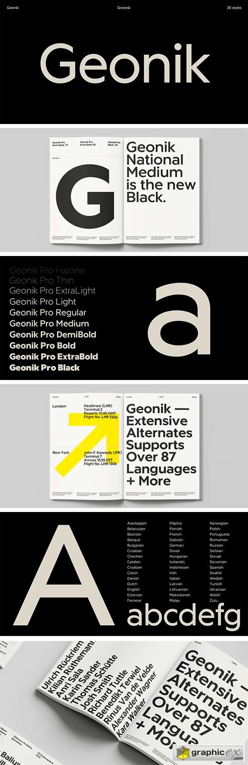 Geonik Font Family