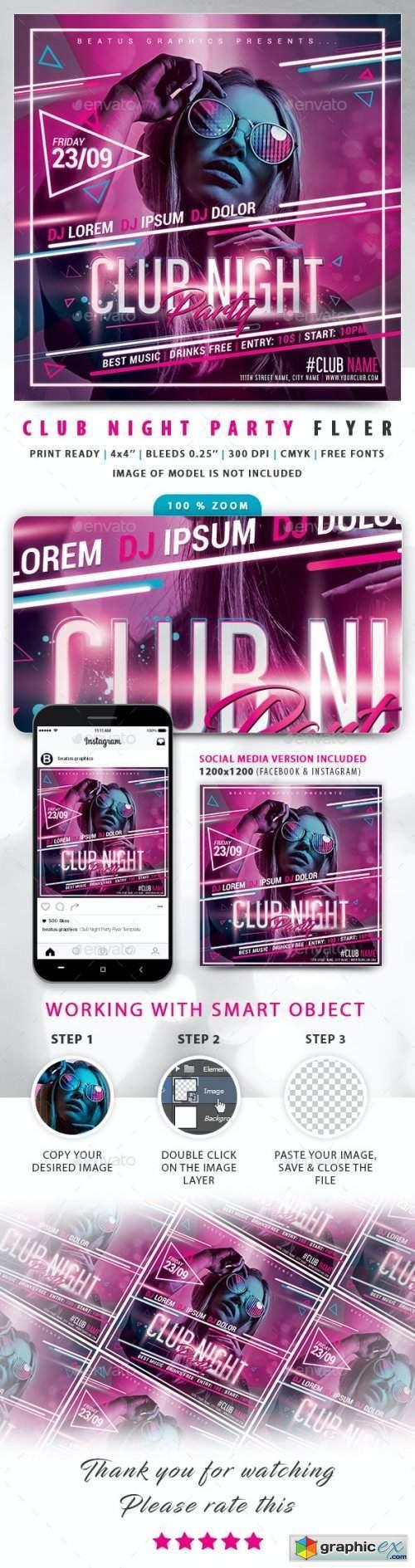 Club Night Party Flyer 24430389