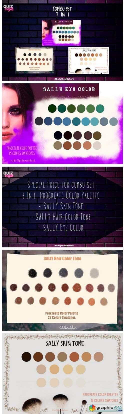 Procreate Color Palette 3 in 1 Combo Set