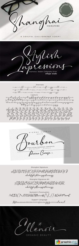 Shanghai Signature Font Family