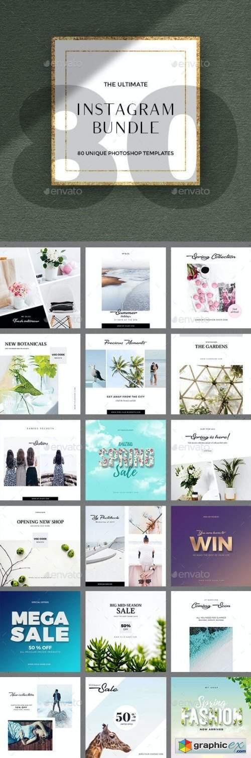 80 Instagram Posts - Bundle