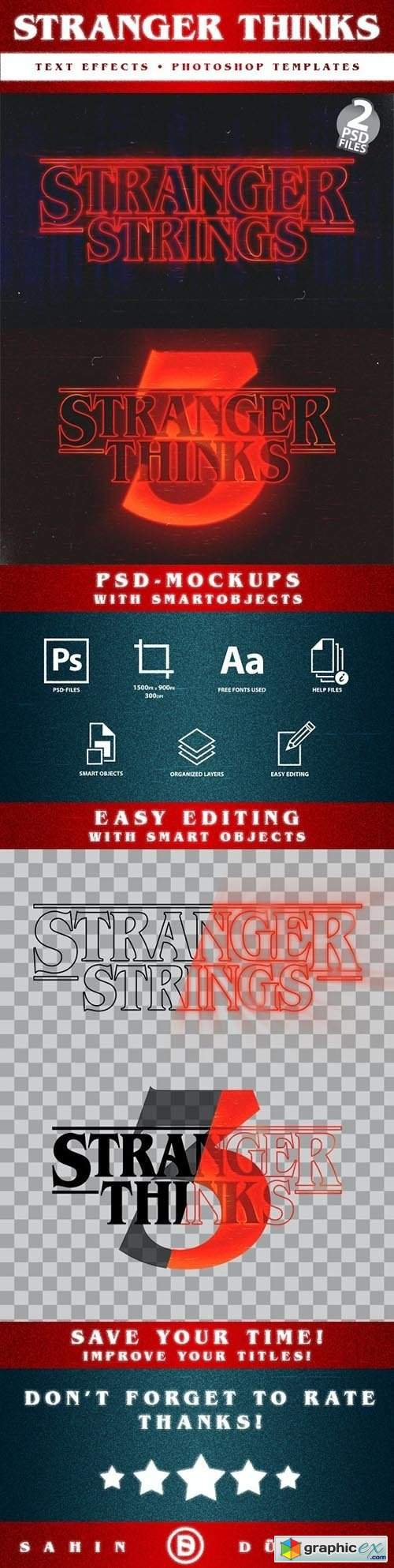 Stranger Thinks | Text-Effects/Mockups | Template-Package