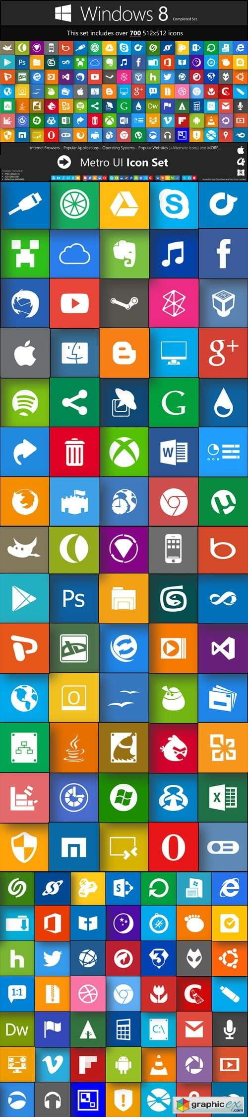 Win 8 Icons - Metro UI Icon Completed Set - 700+ Icons