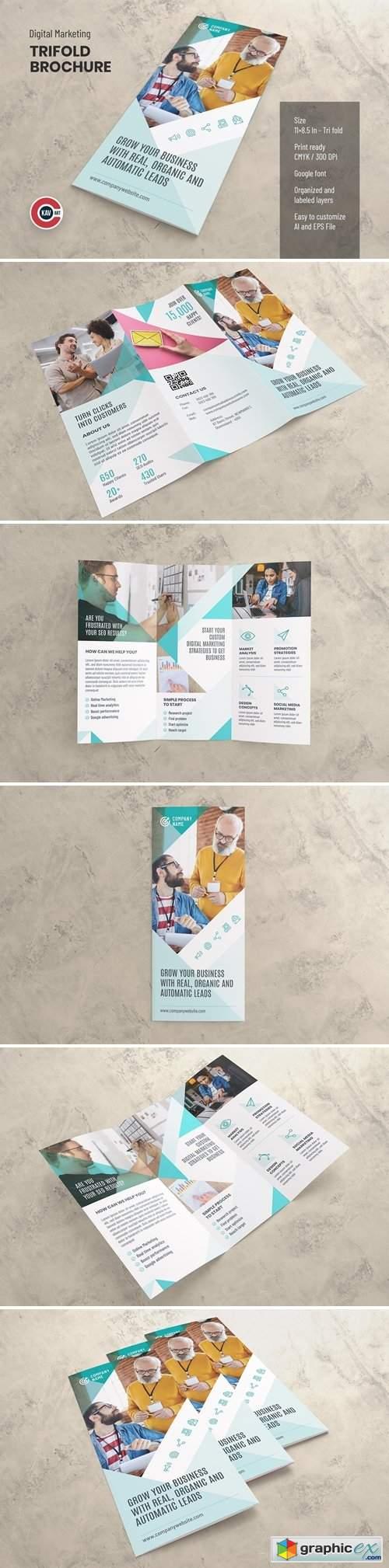 Trifold Brochure Template - Vol. 01