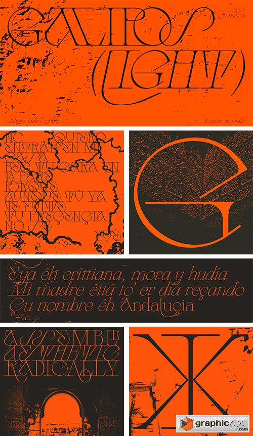 Galipos Typeface (Latin + Cyrillic)