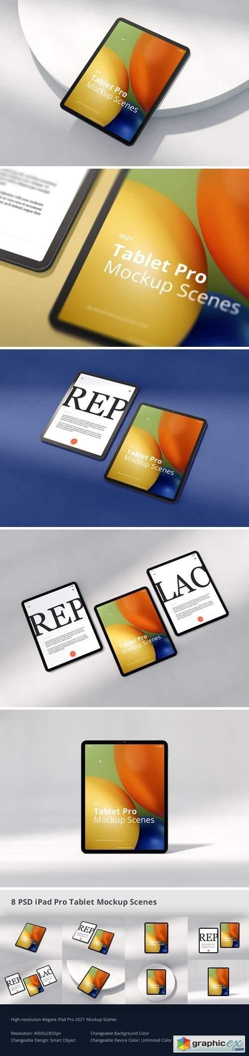 Tablet Pro Mockup Scenes 2021