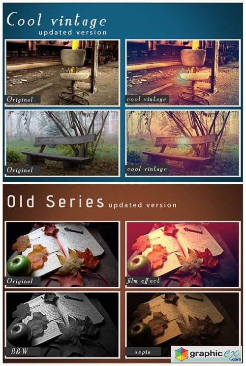 Cool Old Vintage Photoshop Actions