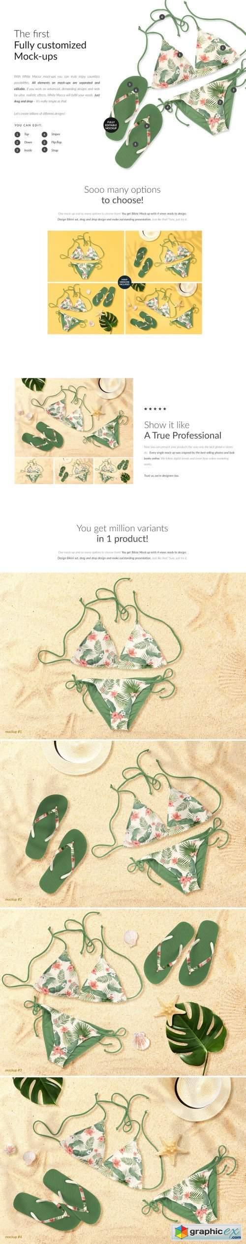 Bikini 4x Mock-ups