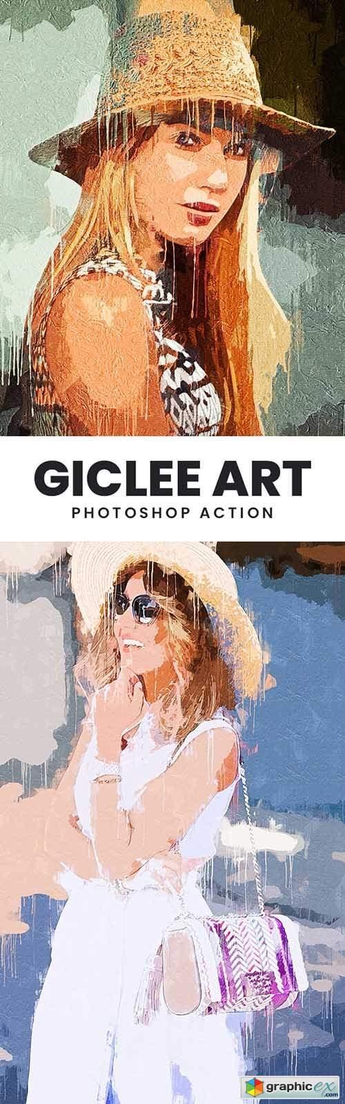 Giclee Art Photoshop Action